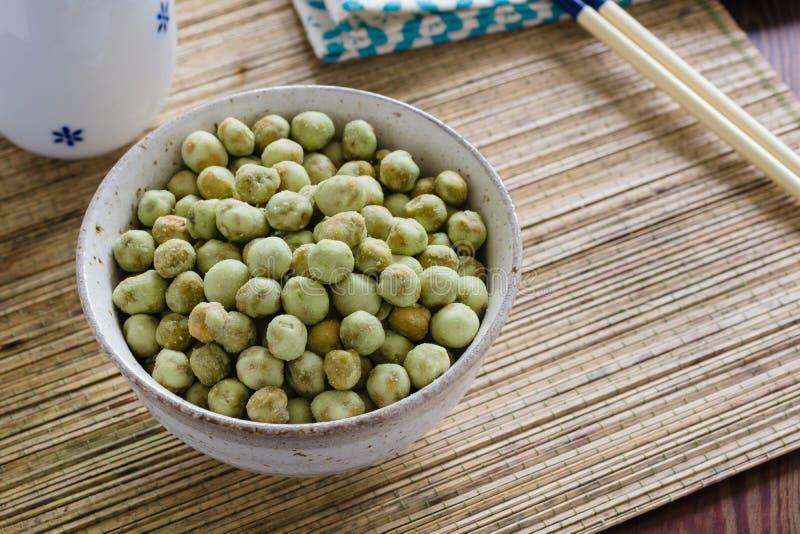 Wasabi豌豆 图库摄影