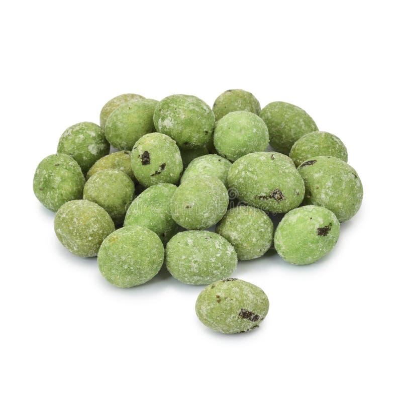 Wasabi beschichtete Erdnüsse. lizenzfreies stockfoto