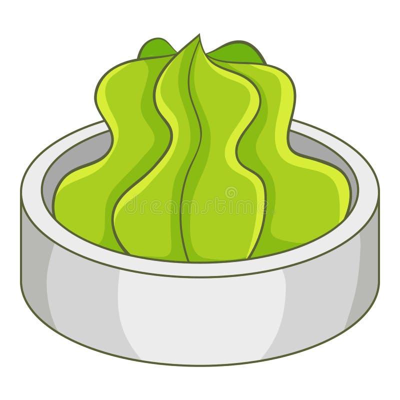 Wasabi icon, cartoon style. Wasabi icon. Cartoon illustration of wasabi vector icon for web royalty free illustration