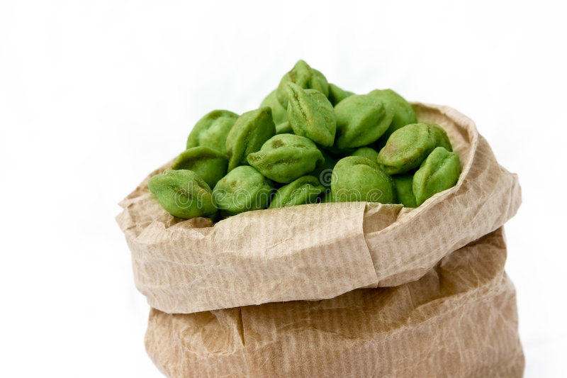 Wasabi Nuts royalty free stock images