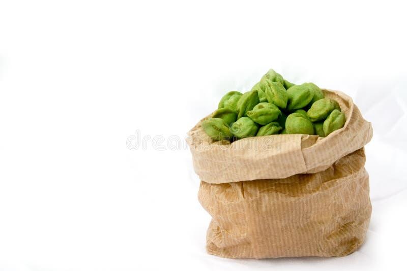 Wasabi Nuts royalty free stock photos