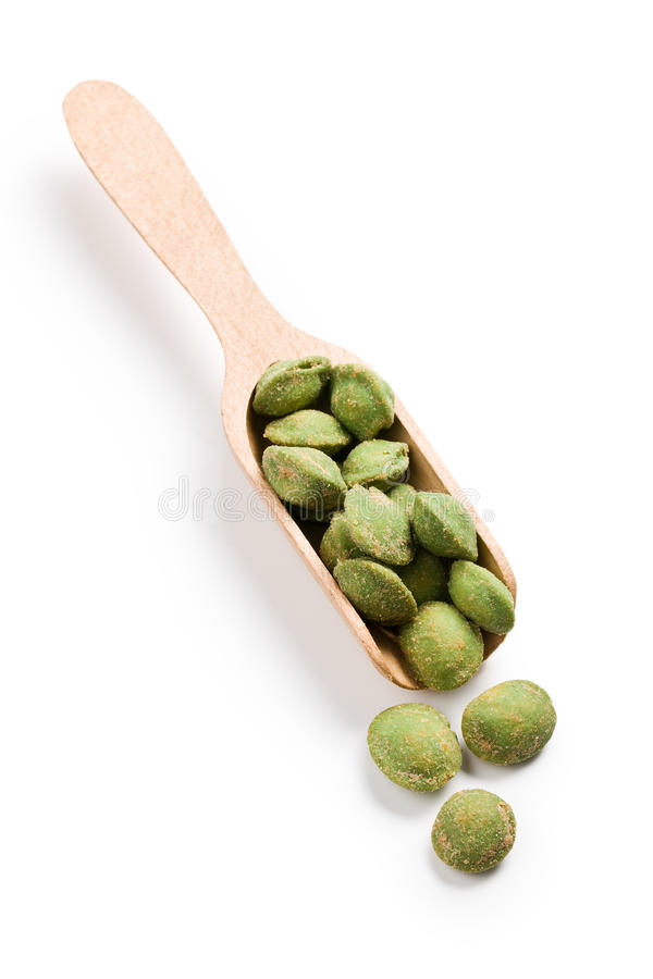 Download Wasabi snack peanuts stock image. Image of coated, spicy - 22703313