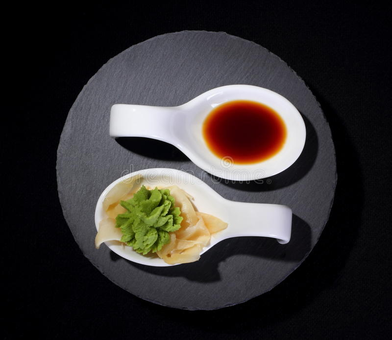 Wasabi And Soy Sauce As Yin And Yang Symbol Stock Image Image Of