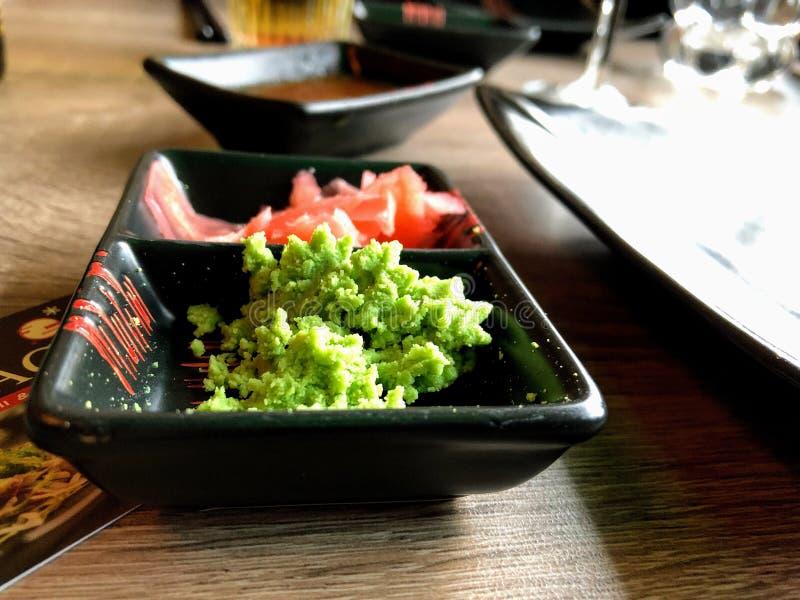 Wasabi und Ingwer lizenzfreies stockbild