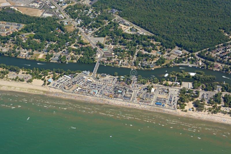 Wasaga strand, antenn arkivbilder