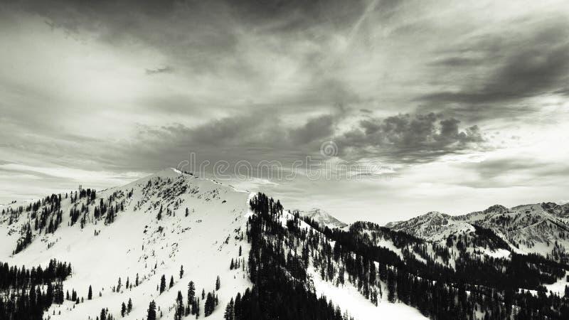 Wasatch bergskedja i Park City, Utah royaltyfria foton