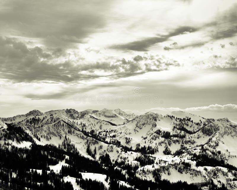 Wasatch pasmo górskie w Parkowym mieście, Utah zdjęcia royalty free