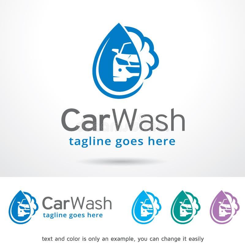 Waschanlage Logo Template Design Vector stock abbildung