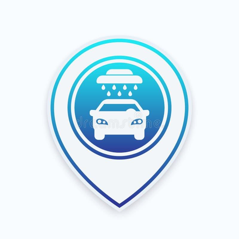Download Waschanlagezeichen, Ikone Auf Kennzeichen Vektor Abbildung - Illustration von umreiß, automobil: 96933474