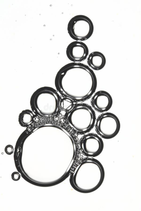 Waschende Luftblasen des Tellers stockbilder