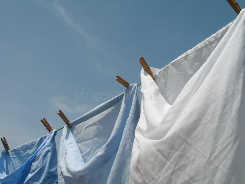 Waschende Zeile stockbilder