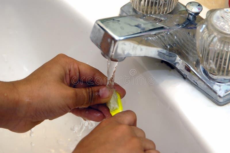 Waschender Pinsel lizenzfreies stockbild