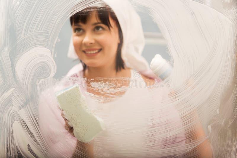 Waschendes Fenster stockfotografie