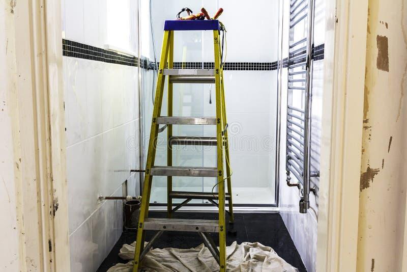 Waschraum-Erneuerung stockfoto