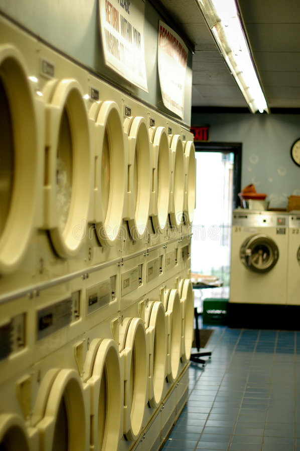 Waschsalon stockbild