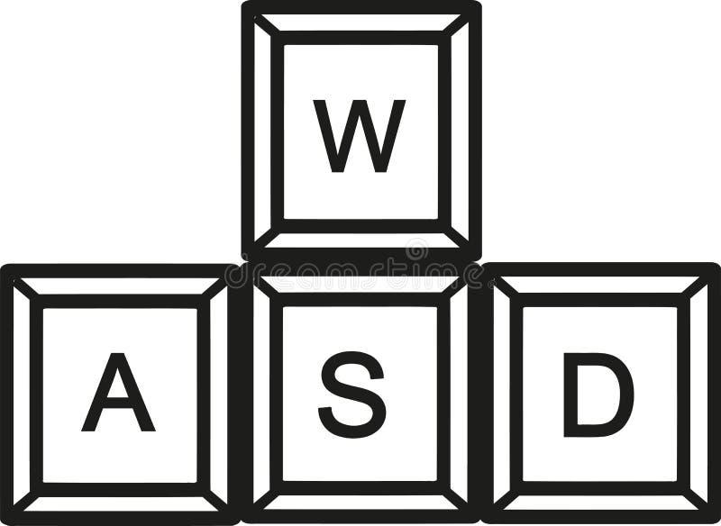 WASD锁上键盘 库存例证