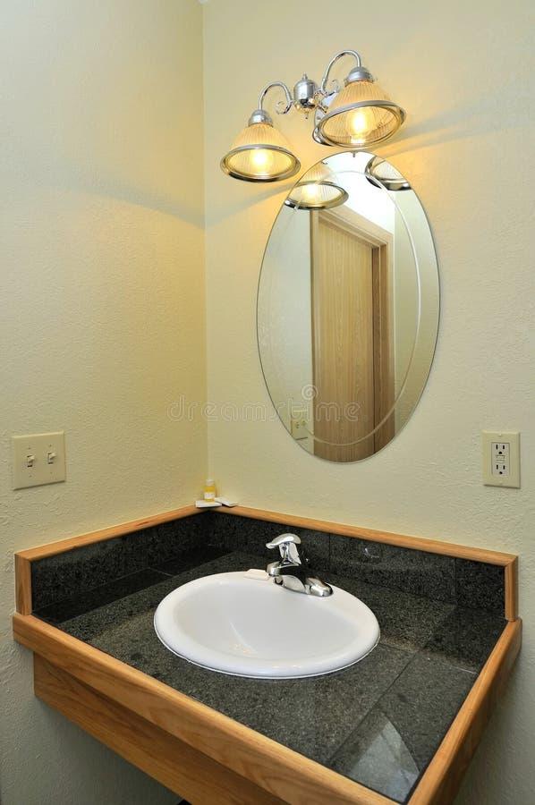 Wash basin and mirror stock photo. Image of washroom - 16044812