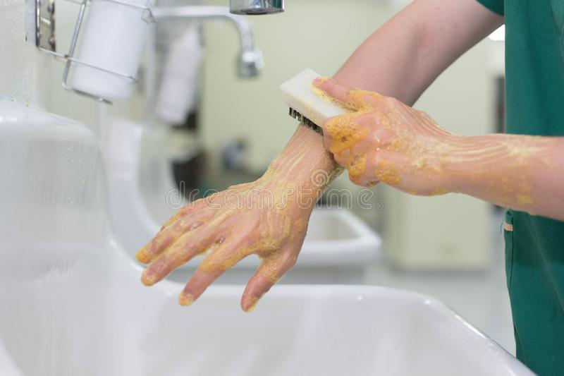 Wash hands Surgery stock images