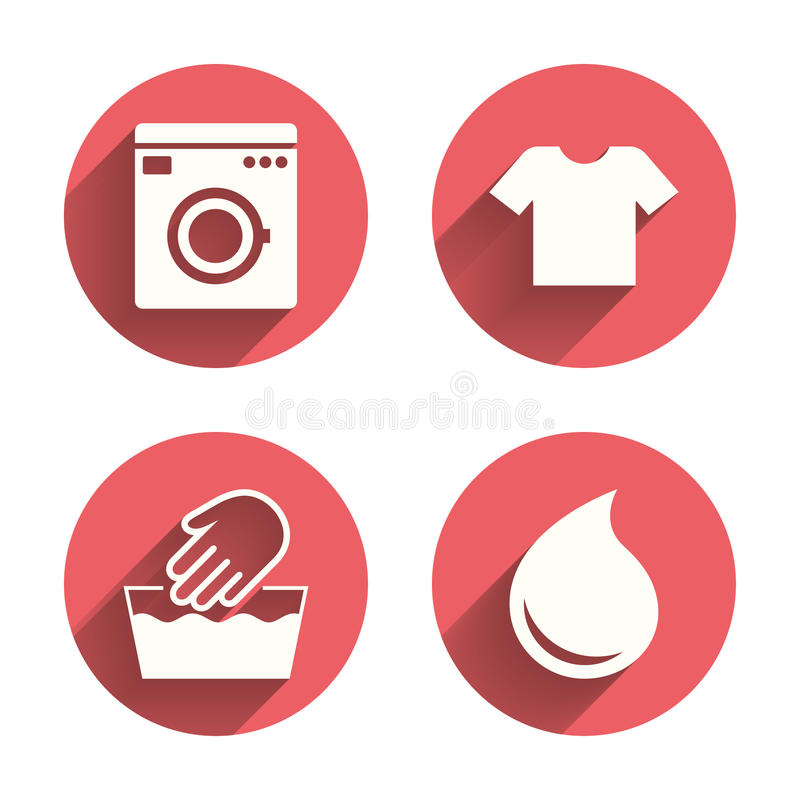 Wash Icon Not Machine Washable Symbol Stock Vector Illustration
