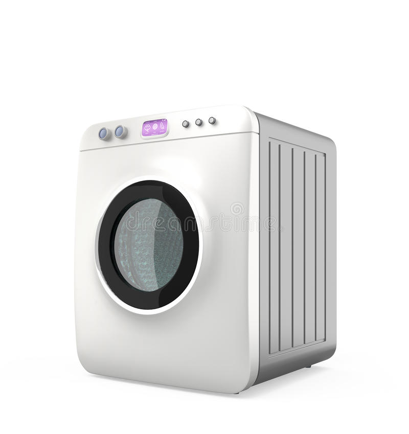 Wash machine with touch panel, Internet of things concept stock photo