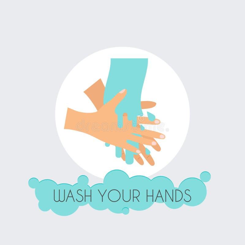 Wash your hands. Flat design modern. Vector illustration concept vector illustration