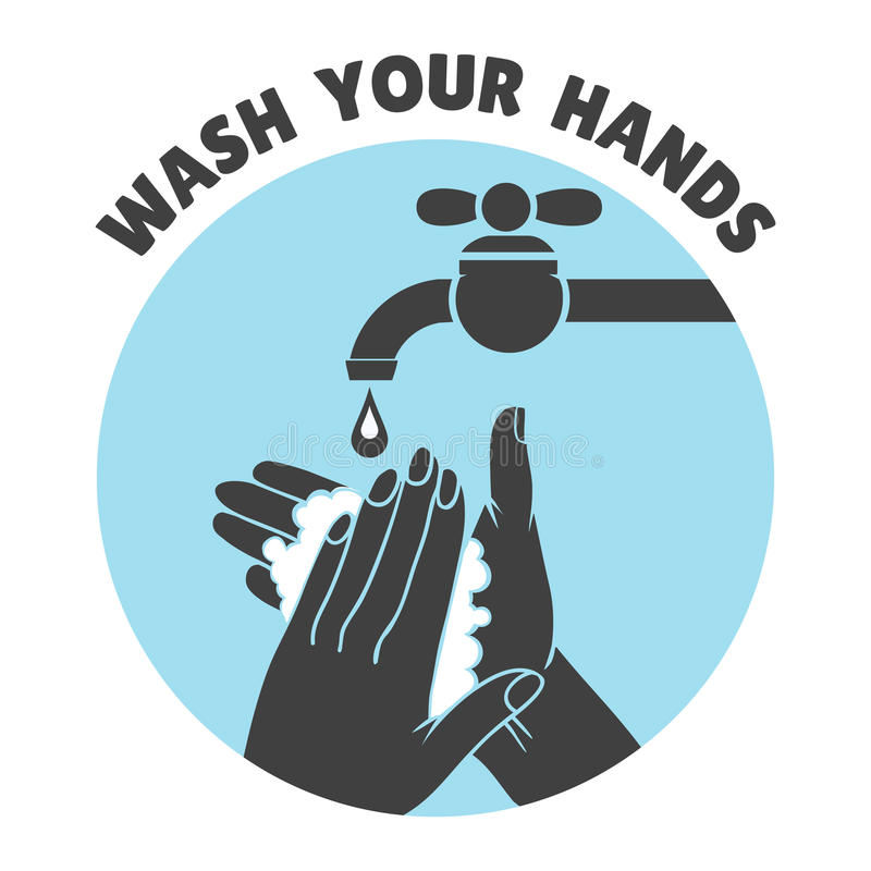 Wash your hands or safe hand washing vector symbol vector illustration