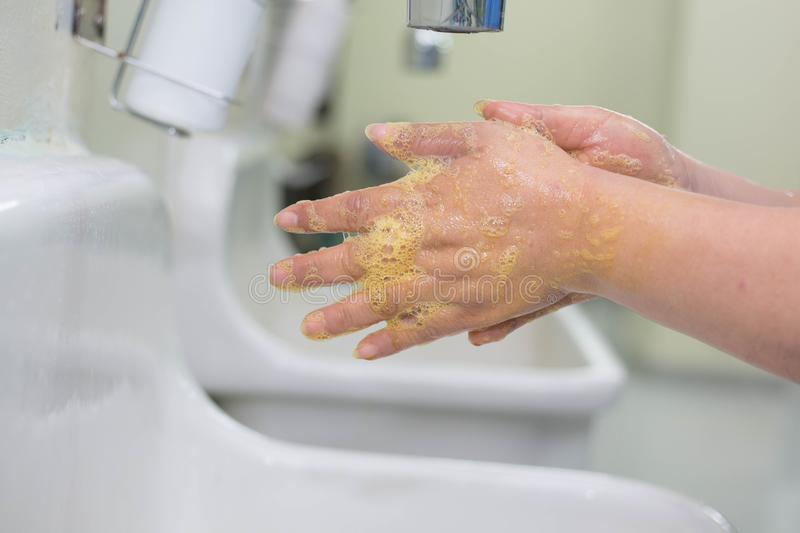 Wash hands Surgery stock photo