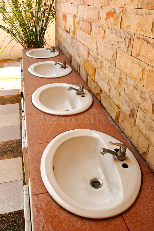 Washbasin. The Washbasin in temple area Thailand royalty free stock photo