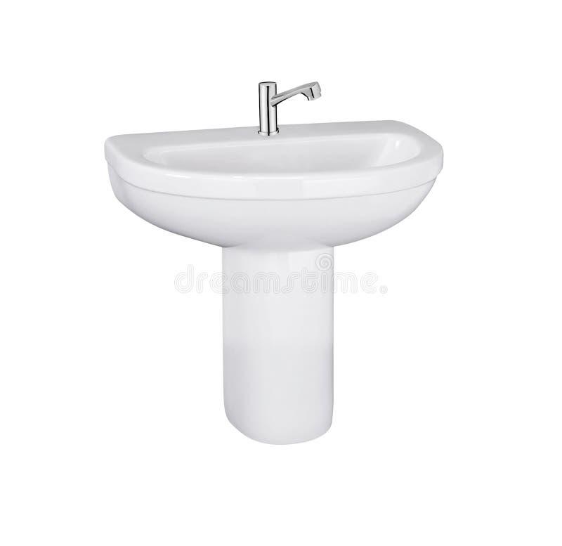 Washbasin isolated on white royalty free stock photography