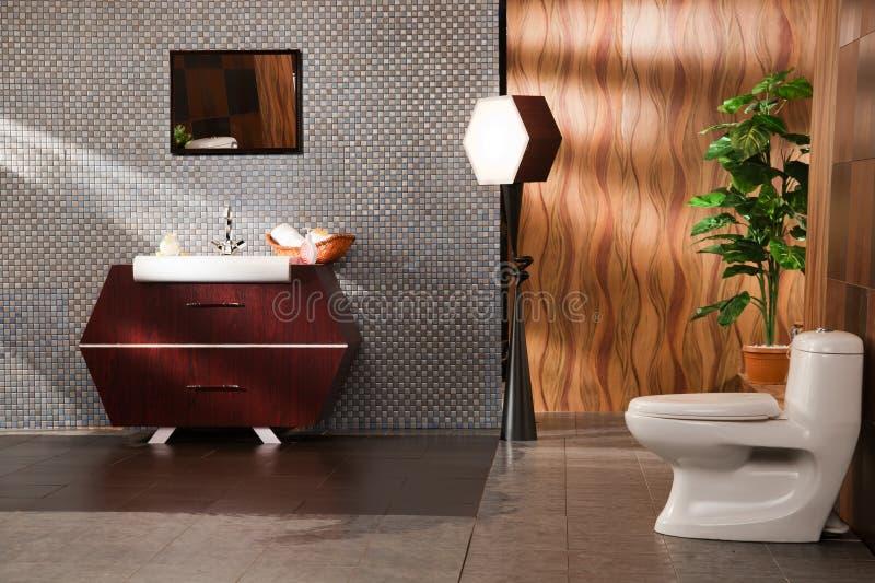 Washbasin in a modern bathroom. Close up of a wash basin in a modern bathroom stock photos