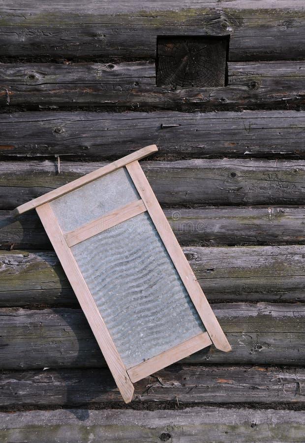 washboard стены журнала дома старый стоковое изображение rf