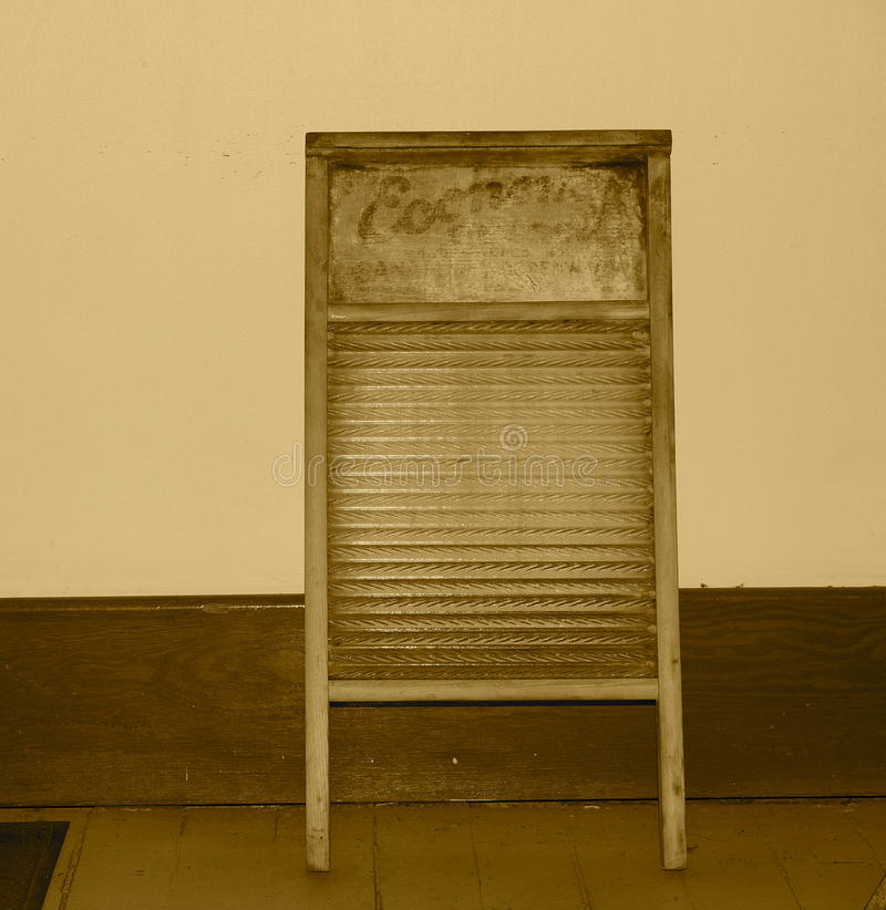 Washboard in Sepia Toon royalty-vrije stock afbeelding