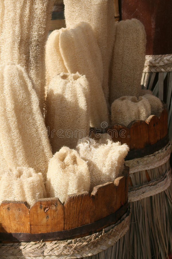 Washcloth naturale fotografie stock