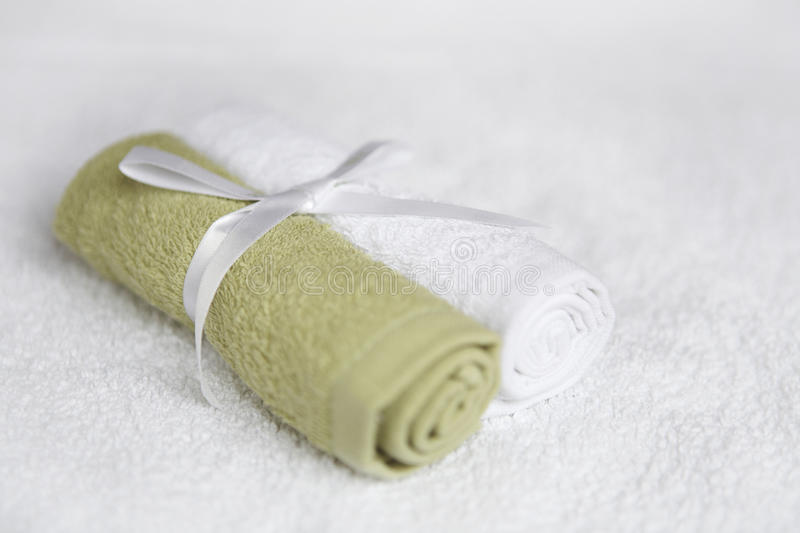 Download Washcloths Tied With Ribbon Stock Photo - Image: 14851786
