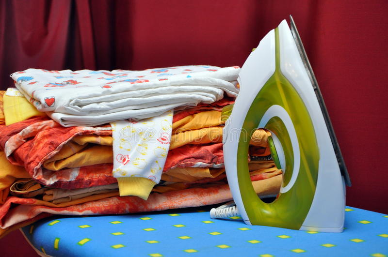 Download The washed linen stock photo. Image of work, linen, ironing - 23478990