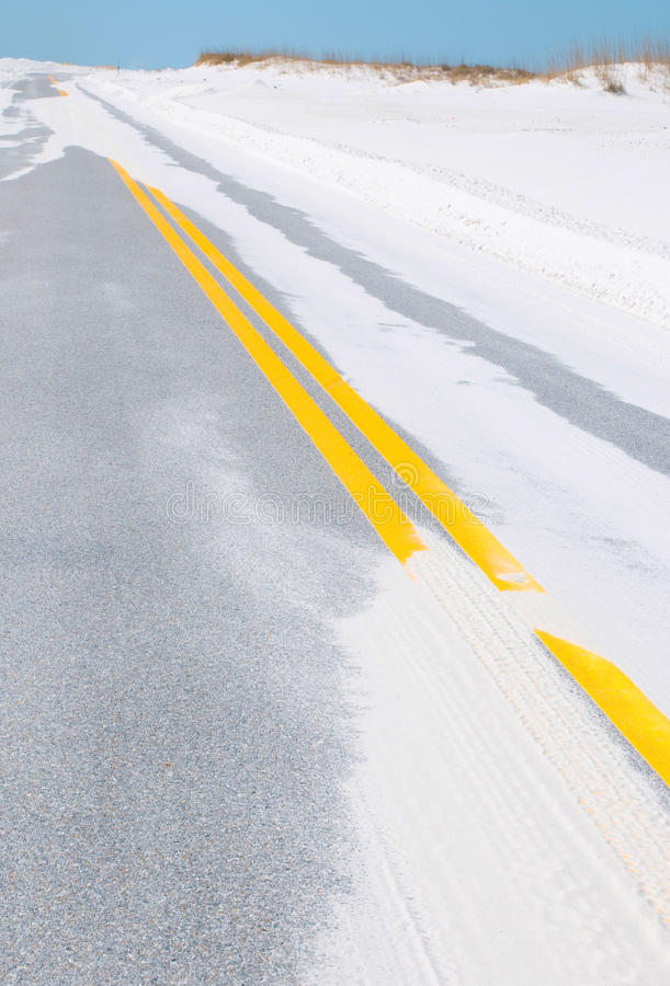 Download Washed Out Beachfront Road Following Storm Stock Photo - Image: 13333822