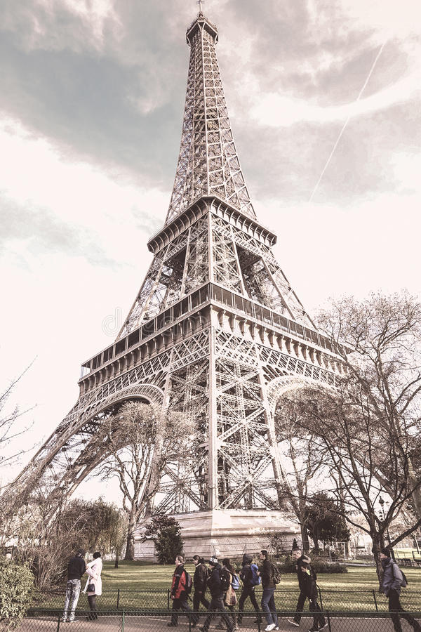 Washed out Eiffel Tower royalty free stock photos