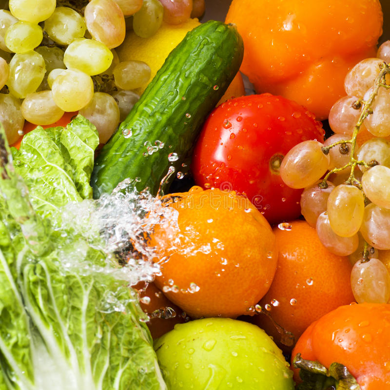 Download Washed vegetables stock photo. Image of cherry, salad - 29013944