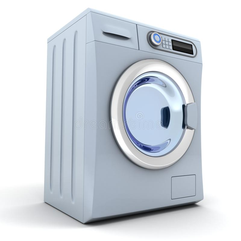 Washer. Modern washer on white background (done in 3d stock illustration