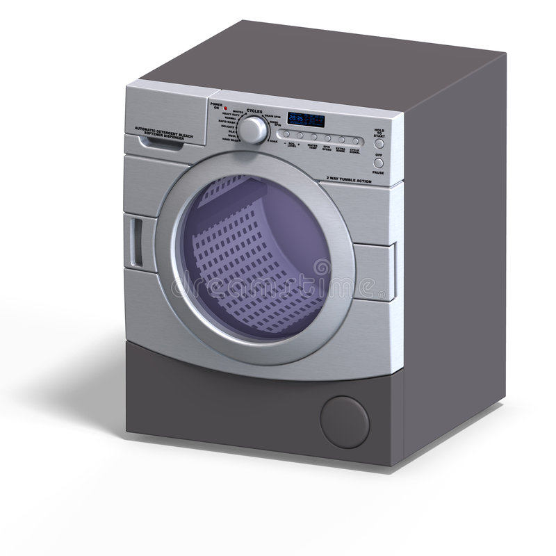 Washer. Rendering of a washer With Clipping Path over white vector illustration