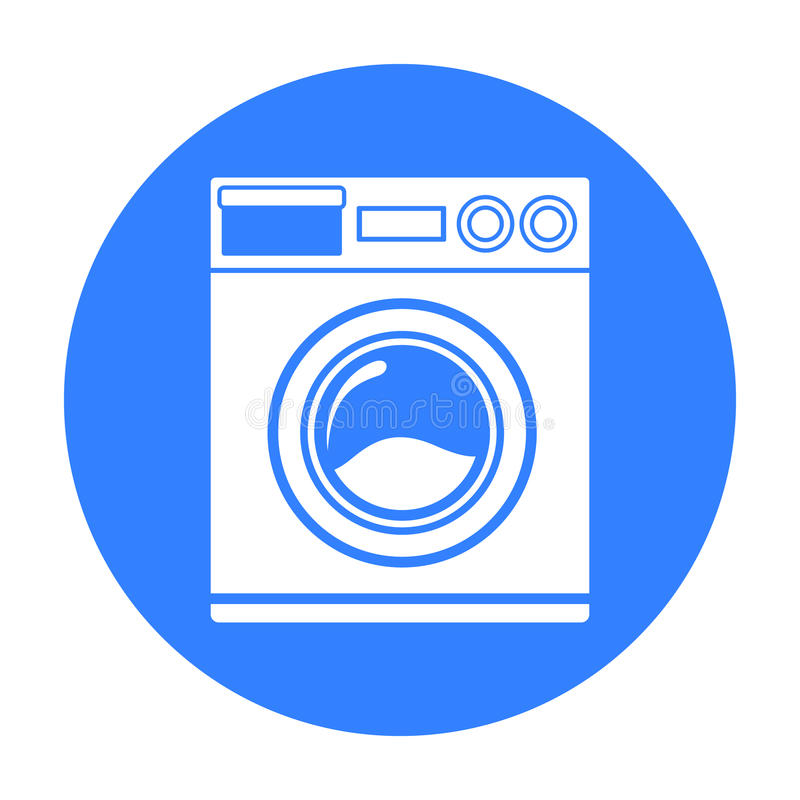 Washer black icon. Illustration for web and mobile design. Washer black icon. Illustration for web and mobile vector illustration