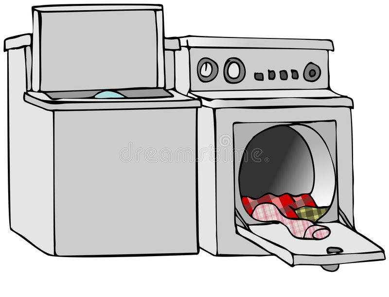 Cartoon Washer And Dryer ~ Washer and dryer stock image illustration of cartoon