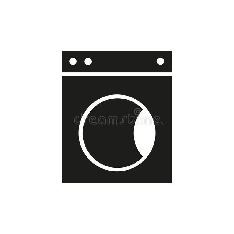 Washer of icon. Washer icon on the white of background vector illustration