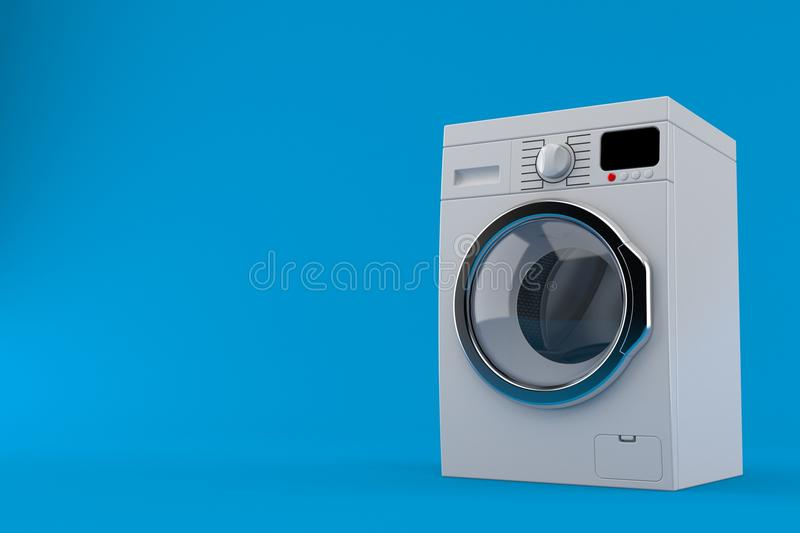 Washer. Isolated on blue background. 3d illustration vector illustration
