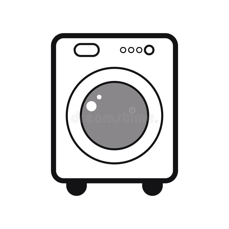 Washer for doing laundry stock illustration