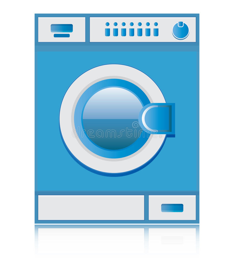 Washer. Washing machines are blue with a white background royalty free illustration