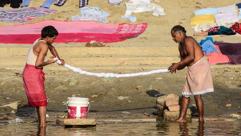 Washerman w India obrazy royalty free