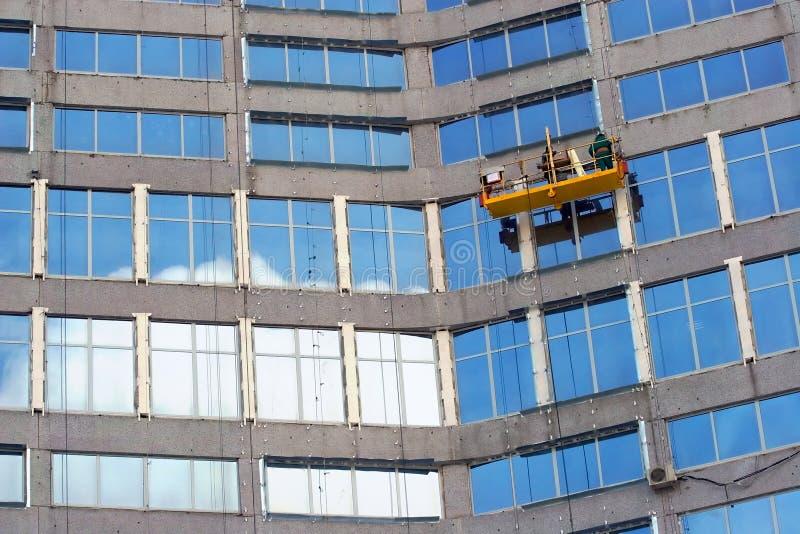 Washermen de ventanas foto de archivo libre de regalías