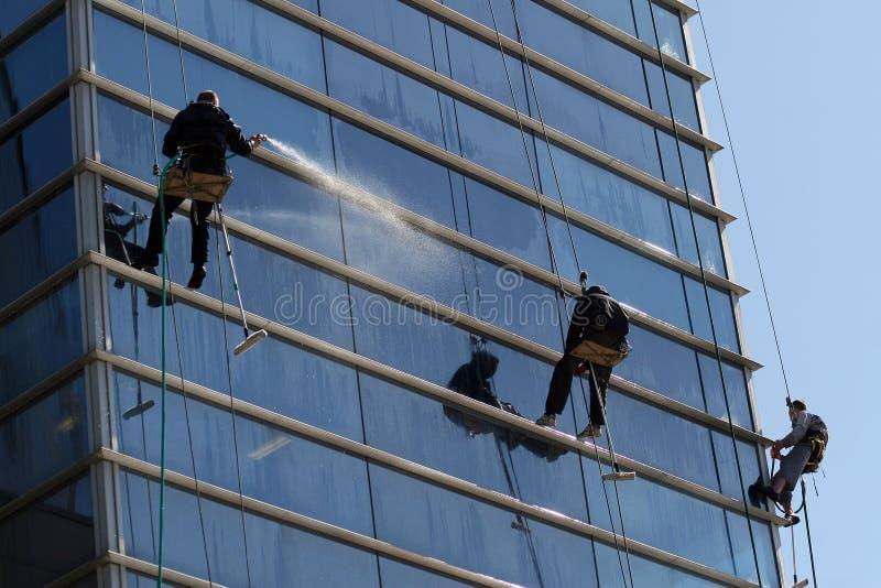 Washermen Windows de grimpeurs photographie stock