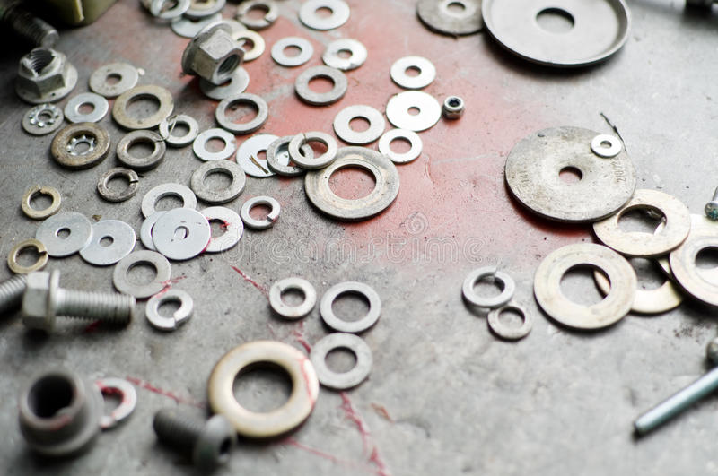 Washers and Nuts stock photography